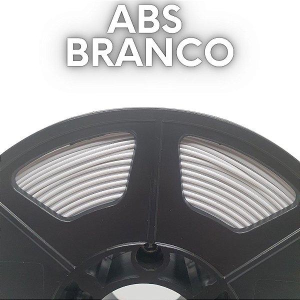 FILAMENTO ABS - BRANCO PURO - PREMIUM - MG94 - 100% VIRGEM