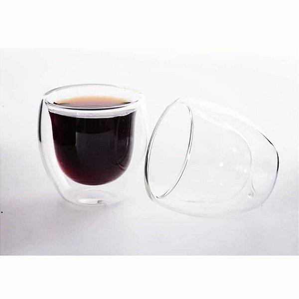 Copo de vidro borossilicato 80ml