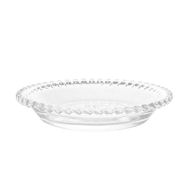 Conjunto com 4 pratos cristal 14 cm linha pearl
