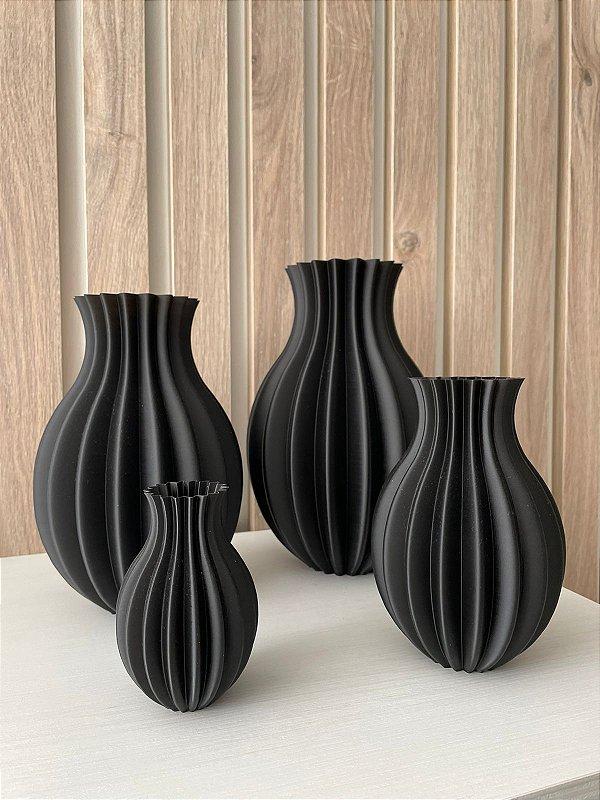 Kit Conjunto Vaso Gomos Decorativo 3D