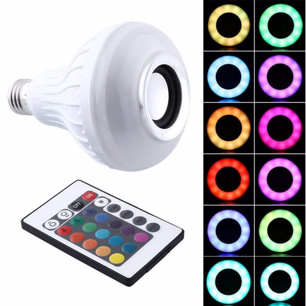 Lampada LED Caixa de Som Musica Colorida com Bluetooth MX-7005