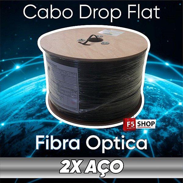 Fibra Optica Otica Cabo Drop 1fo Flat 1000mt Anatel Rolo Bobina Carretel
