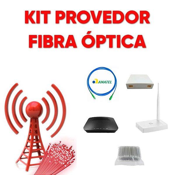 Kit Provedor Fibra Óptica 1 Epom ONU - 1 PTO - 1 Patch Cord - 1 Roteador WiFi Multilaser - 2 Protetor de Emenda