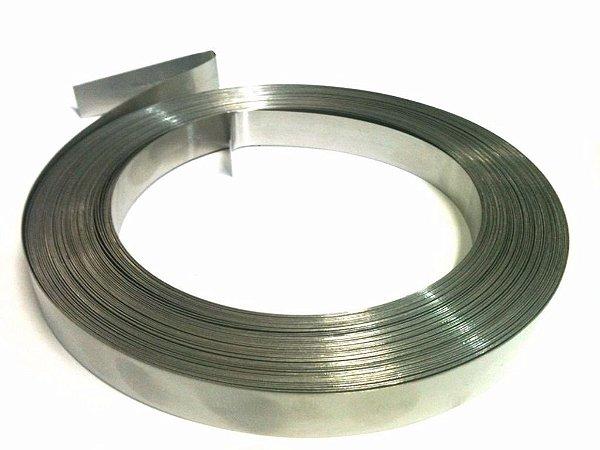 Fita de Aço Inox 3/4 0,5 25 Metros Fibra Óptica OT-1009-FT