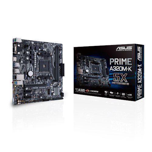 PLACA MÃE ASUS PRIME A320M-K/BR SOCKET AM4 CHIPSET AMD A320