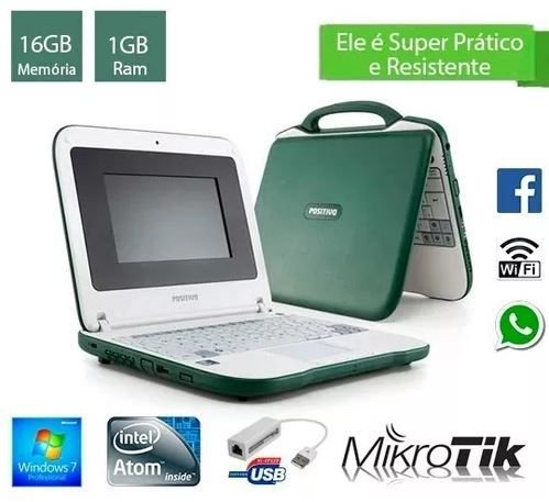 Notebook Pequeno e Compacto Intel 1gb de Ram e 16gb HD