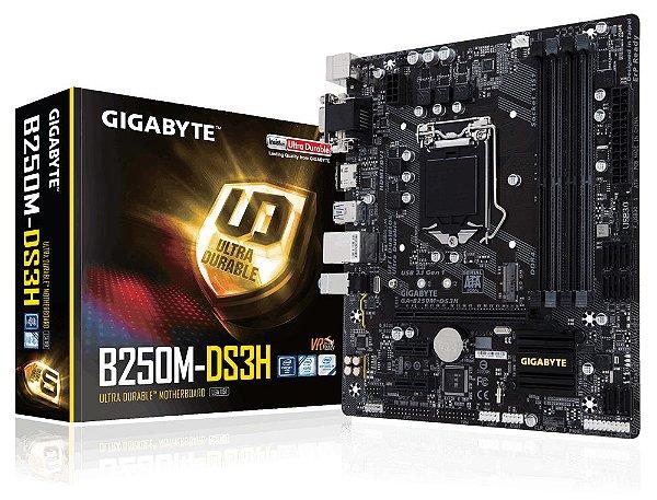 Placa Mãe Gigabyte GA-B250M-DS3H DDR4 Intel 7ª Geração 1151
