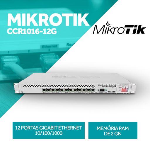 Mikrotik P/ Provedor Até 1500 Clientes Ccr1016-12g