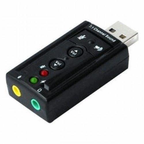 Adaptador Placa de Som Externa Para Computador Notebook USB 7.1 USB Muito Mais Qualidade