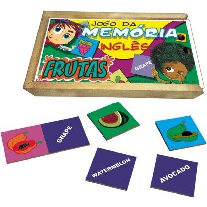 Memória Frutas Inglês  (3anos ou+)