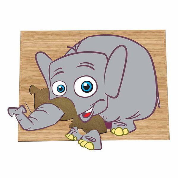 Super Quebra-Cabeça Elefante (3anos ou+)