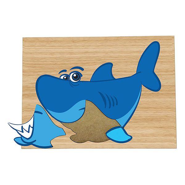 Super Quebra-Cabeça Tubarão (3anos ou+)