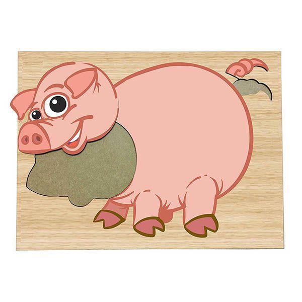 Super Quebra-Cabeça Porquinho  (3anos ou+)