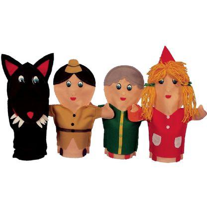 Fantoches Chapeuzinho Vermelho - 4 personagens (2anos ou+)
