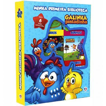Box Cartonado - Minha Primeira Biblioteca - Galinha Pintadinha
