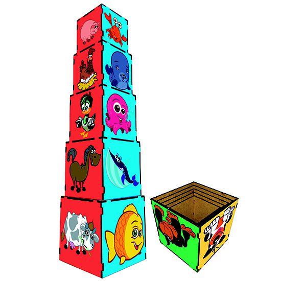 Cubo de Encaixe - Animais  (3anos ou+)