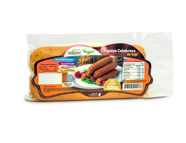 Linguiça Calabresa de Soja Vegana 300g - Goshen