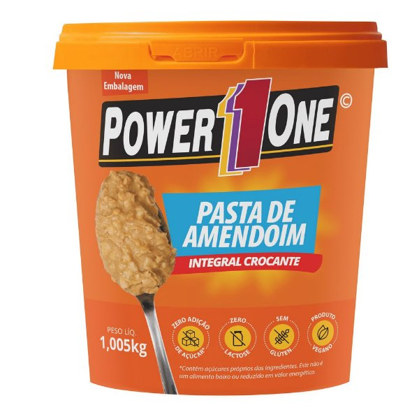 Pasta de Amendoim Integral Crocante 1kg - Power One