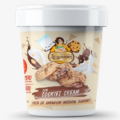 Pasta de Amendoim com Cookies & Cream 450g - La Ganexa