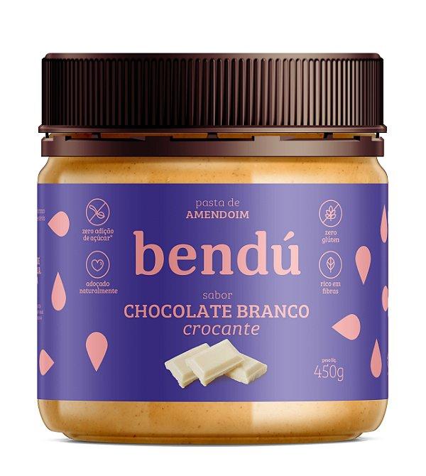 Pasta de Amendoim sabor Chocolate Branco Crocante 450g - Bendú