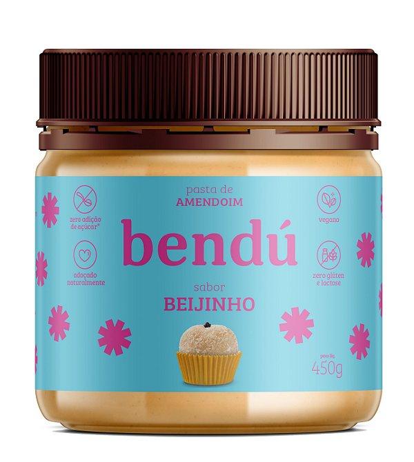 Pasta de Amendoim sabor Beijinho 450g - Bendú