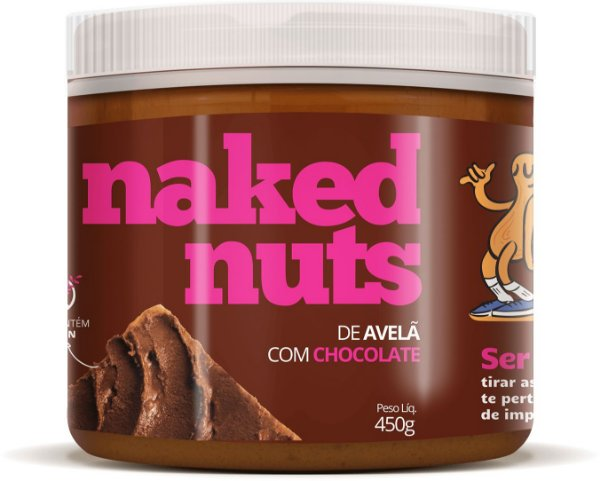 Pasta de Avelã com Chocolate 450g - Naked Nuts