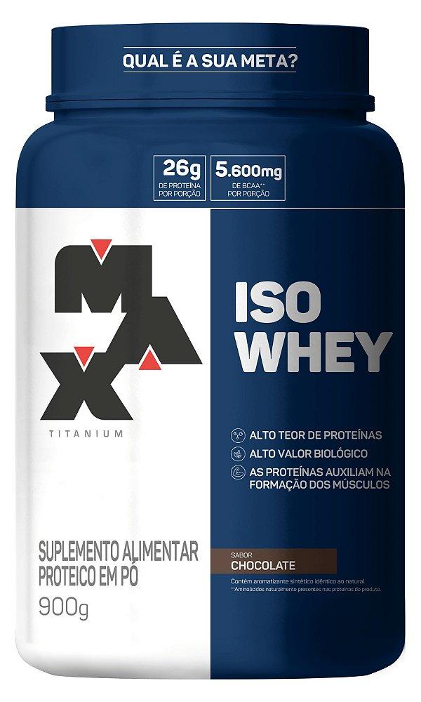 Iso Whey Isolado 900g - Max Titanium