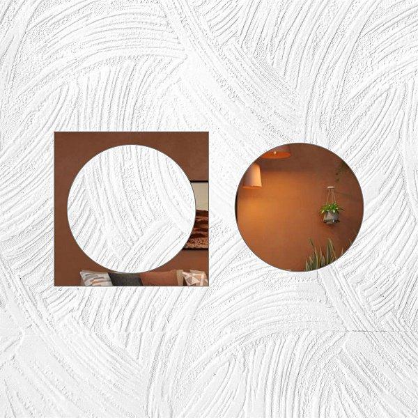 Geométrico 2 peças - Produzido em acrílico espelhado