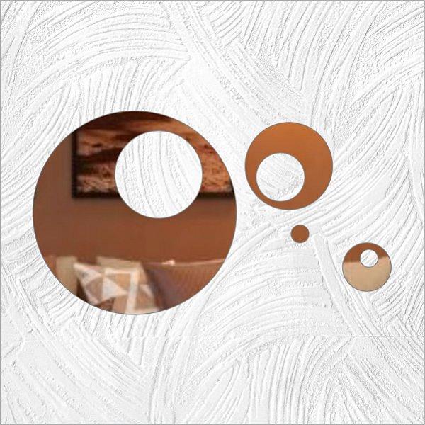 Círculos - Produzido em acrílico espelhado