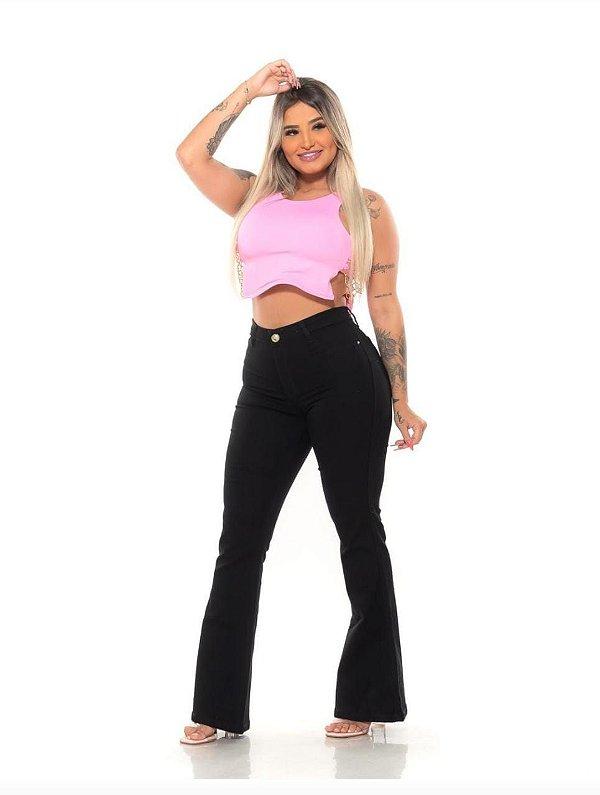 Calça Jeans Black Flare