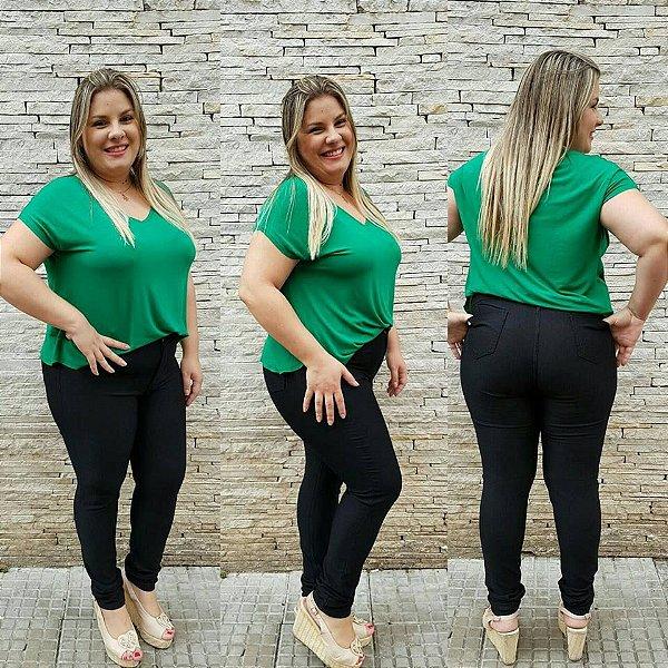 Calça Jeans Plus Size Escura