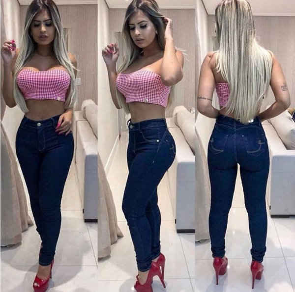 Calça Jeans  Azul Escura Básica