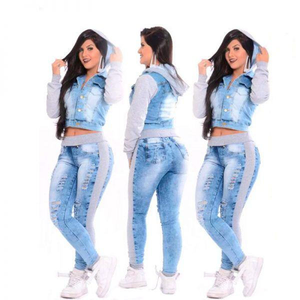 Conjunto Jeans/ Moleton