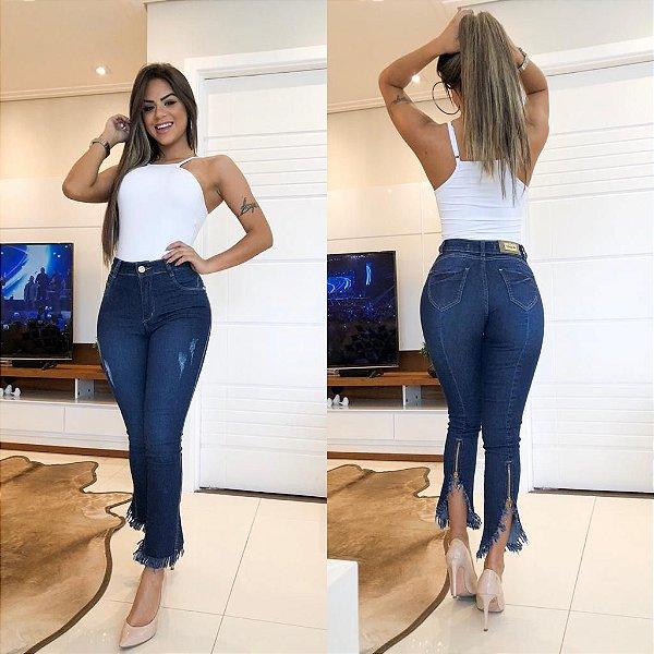 Calça Jeans Desfiadinha detalhe no Zíper