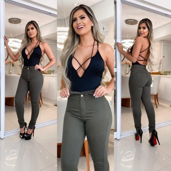 Calça Jeans  Sarja Aline