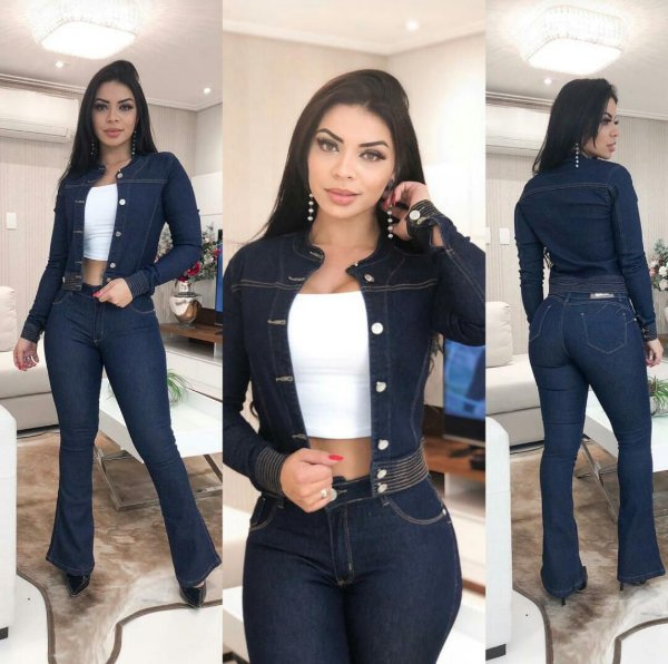 Conjunto Jeans Destroyed Natalina