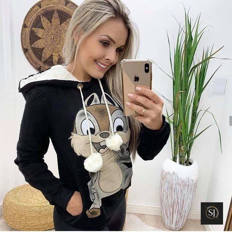 Blusa de Moleton Sabrina