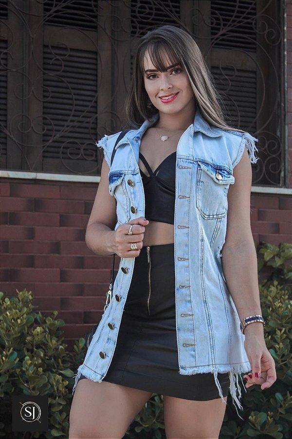 Colete Jeans Samanta