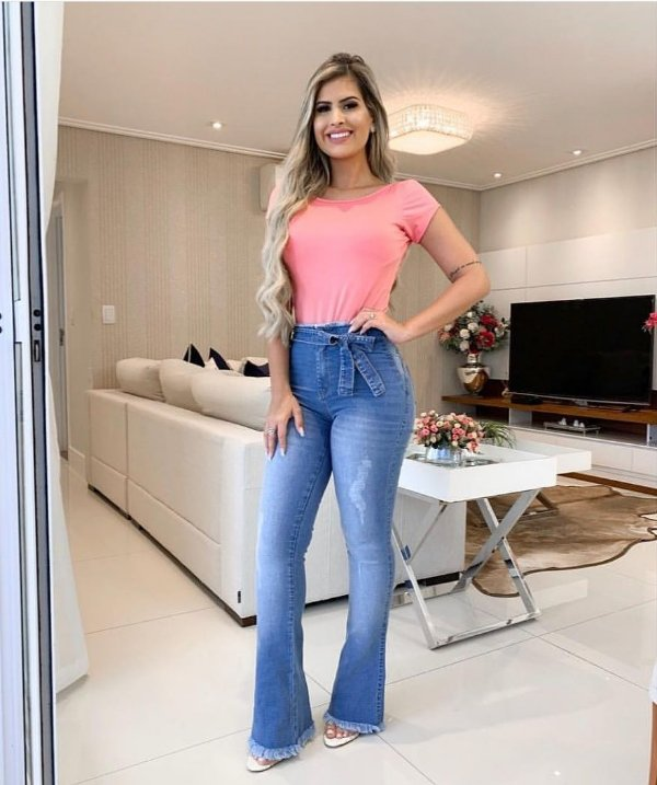 Calça Jeans Flare Kiara