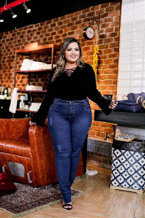 Calça Jeans  Plus Size Eliana