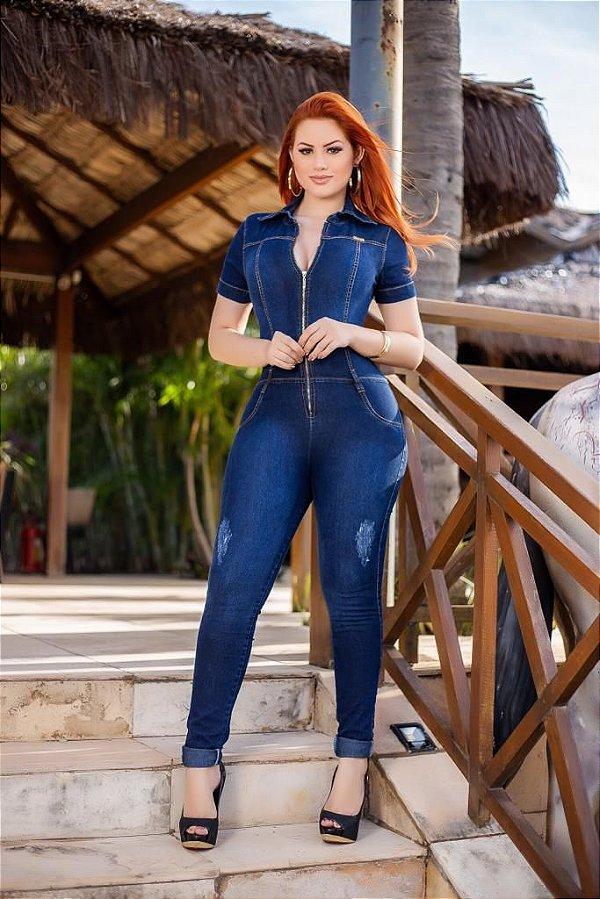 Macação Jeans Julia