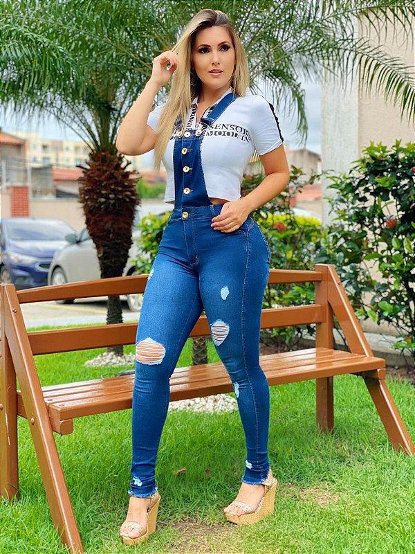 Macacão Jeans Vitória