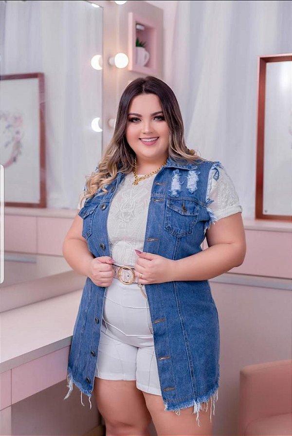 Colete Jeans Mônica