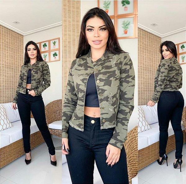 Jaqueta jeans Camuflada Lavynnia