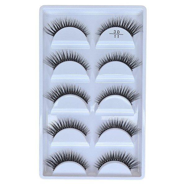 Cílios postiços 5 pares Adriane Makeup 3D n 11