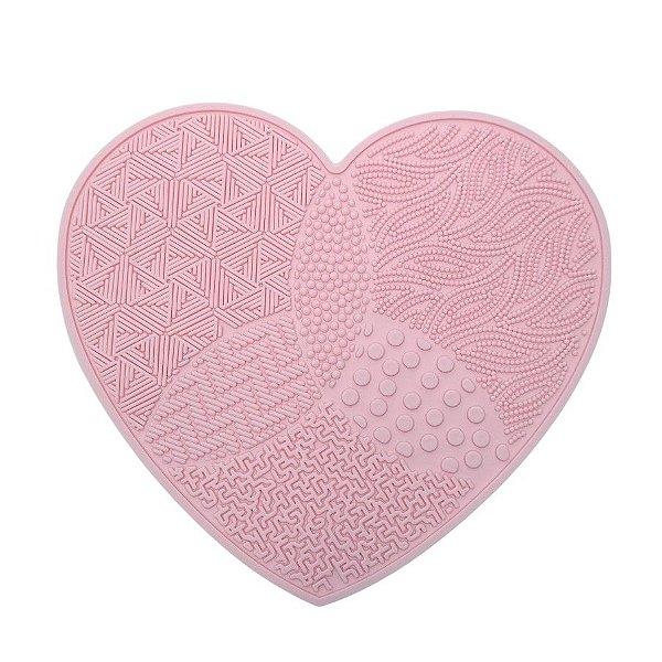 Tapete de silicone para limpar pincéis coração Mandala
