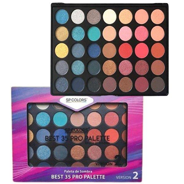 Paleta de sombras Best 35 Pro Pallete Sp Colors