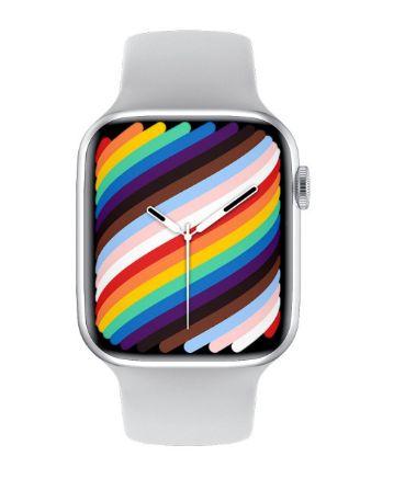 Relógio Smartwatch IWO W37 PRO Serie 7 - Branco - Tela Infinita - IOS / Android - 44mm