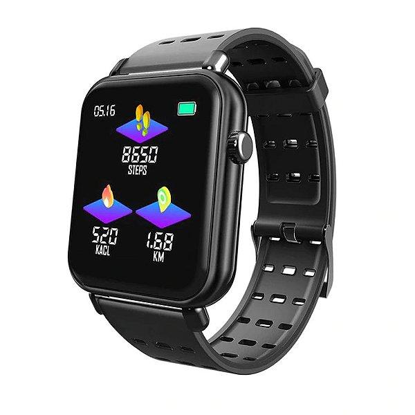 Relógio Eletrônico Smartwatch CF Style - Android e iOS - Preto