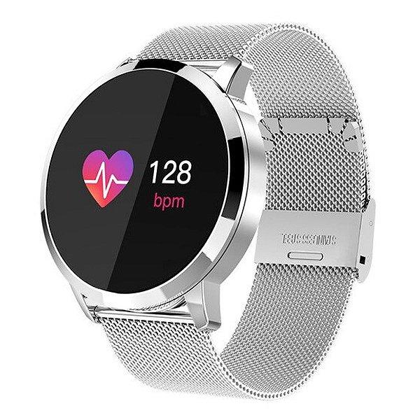 Relógio Eletrônico Smartwatch CF Gear - Prata